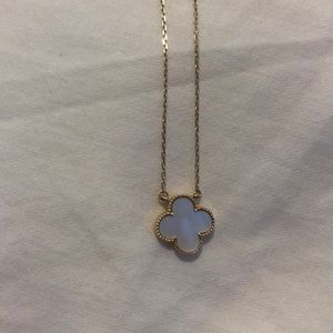 VCA Look Alike Mother of Pearl Pendant Necklace